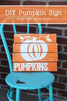 DIY Pumpkin Sign made with my Silhouette | The Creative Mom
