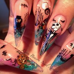 Jack Skellington by Kerryb480 from Nail Art Gallery