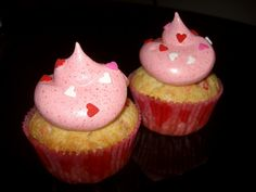 Valentine Funfetti cupcakes with jello frosting... now that is something i have to try... jello frosting.. yum