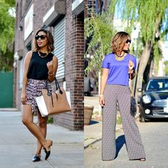 This week was all about printed bottoms... Which look was your fav? Shorts vs. Pants... Go! {full outfit details in the blog} Love these ones that I scored @tjmaxx #maxxinista