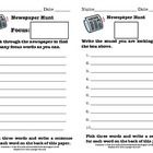 You can use this recording sheet to have students search the newspaper for various spelling patterns, vowel patterns, nouns, verbs, etc. You can us...