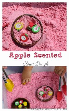 How to Make Apple Scented Cloud Dough by FSPDT
