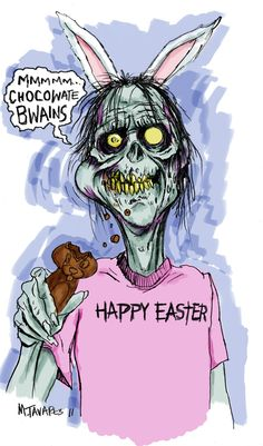 easter idea, happi easter, zombi bunni