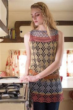 Crochet lace tunics are perfect for summer. Free Spirit Tunic