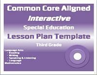 Grades  K - 3 Special Education Interactive Lesson Plan Templates from Time-Saving Teaching Solutions on TeachersNotebook.com -  (24 pages)  - A  fully interactive Lesson Plan Template Set for special education teachers grades K-3 in the areas of English Language Arts - Reading, English Language Arts- Writing, Speaking & Listening and Language and Mathematics with drop down menus, check boxe