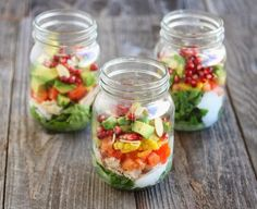 7 Layer Salad in a Jar | Kirbie's Cravings | A San Diego food blog