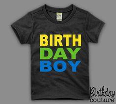 Birthday Boy T-shirt - Birthday Boy Tee - Fun Colorful Shirt for the Birthday Boy. $25.00, via Etsy.