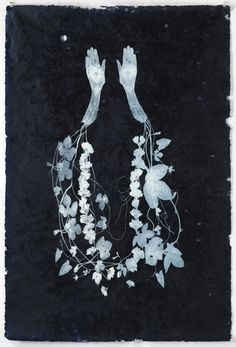 Valerie Hammond | Garland, Relief Printed Lithograph