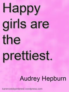 """""""Happy girls are the prettiest"""" - Here's to being beautiful inside and out! xoxo The eSalon.com Hair Color Experts"""