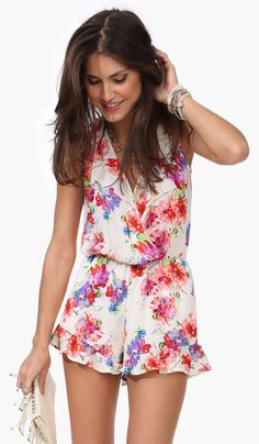 $42.99 Kahlo Floral Romper - Necessary Clothing