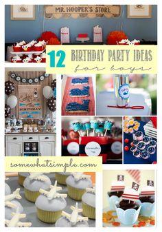 Birthday Party Ideas for Boys
