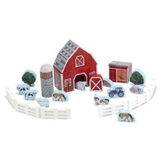 for welcome table? toy, play sets, doug farm, farms, farm block, wooden play, block wooden, melissa, block play