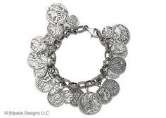 sterling silver coin bracelet...love it!