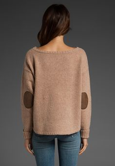 leather patch sweater