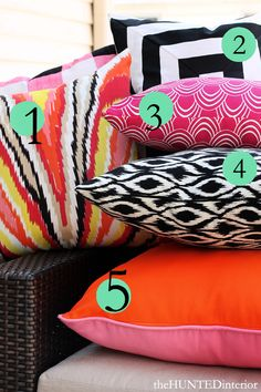 Pillow Sources for these Outdoor Pillows in the link
