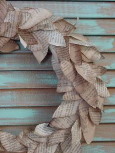 Book pages wreaths ~