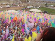 Festival of Colors in Spanish Fork Ut. at the Sri Sri Aradha Krishna Temple.