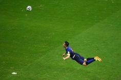 Robin Van Persie's Flying Header Goal Against Spain At The World Cup #Brazil2014