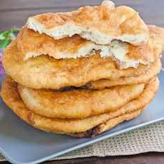 Fried Dough with Feta Cheese