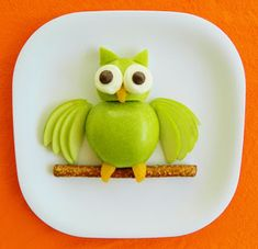 Kitchen Fun With My 3 Sons: Hoot Hoot...Eat Some Fruit!  Owl Fruit Snack