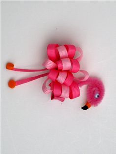 Flamingo Ribbon sculpture clip