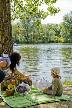 picnic by the river . . . a perfect day