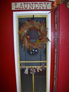 screen door for laundry room door!   Love it!!