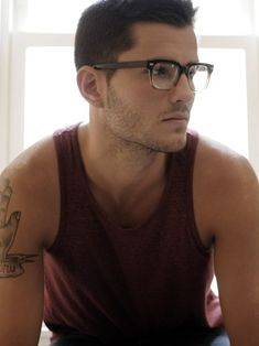 Glasses. Tattoo. Him.