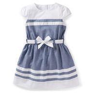 carter dress, girl dress, chambray dress