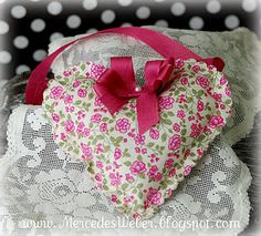 Stampin' Up!  Springtime Vinatge Fabric Mercedes Weber  Heart