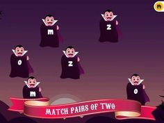ABC Count Dracula Halloween Puzzle Game for Kindergarten Girls & Boys FULL - a simple matching game/letter practice.