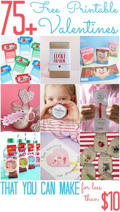 Over 75 FREE Printable Valentines - All Cheap Crafts
