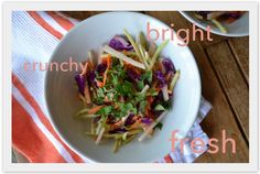 Yummy Ginger Slaw from Chef AJ's book, Unprocessed.
