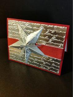 christmas card gold star
