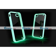 Silicone Case TPU Bumper Fluorescence Case for iphone 4 / 4S lighting in the dark