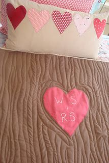 tree carving quilt...this is so cute!