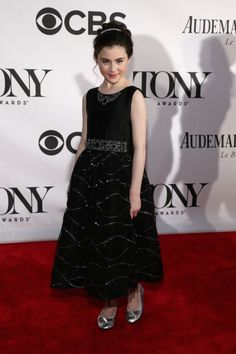 Lilla Crawford, star of Annie On Broadway opted for our Fleurisse Theodora Black Sparkle for her appearance on the Red Carpet at the Tony Awards 2013.