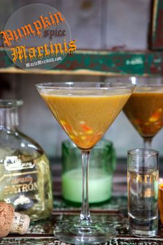 Pumpkin Spice Martinis | Your go-to festive fall cocktail! FamilyFreshCooking.com