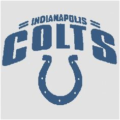 INDIANAPOLIS COLTS LOGO Crochet or Stamp Quilt Pattern