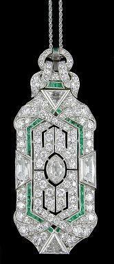 Fabulous Deco diamonds and emeralds.