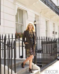 Designer Allegra Hicks outside her London home.