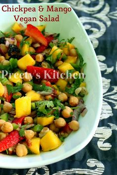 Chickpea & Mango Vegan Salad / #Thanksgiving Easy #Vegan Side Dish ‪#‎veganthanksgiving‬