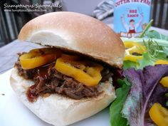 Crockpot Shredded Beef/Venison BBQ Sandwiches