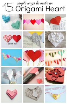 15 Simple ways to create an origami heart  folding hearts Valentines Day
