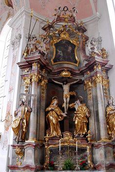 Oberammergau Parish Church, Oberammergau, Germany.