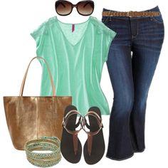 #plussize #plus #size Mint Lace T - Plus Size