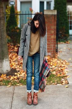 boyfriend coat, boyfriend jeans, fashion, leather boots, casual fall, winter looks, fall outfits, brown boots, fall styles