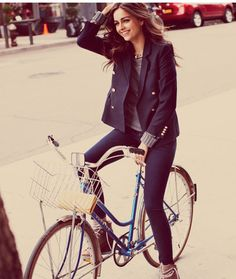 i wish i could look this good riding a bike.