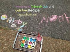 homemade sidewalk chalk and chalk paint recipe