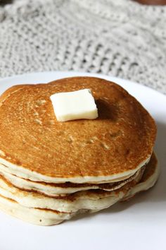 Gluten Free Buttermilk Pancakes   natural Chow   http://naturalchow.com